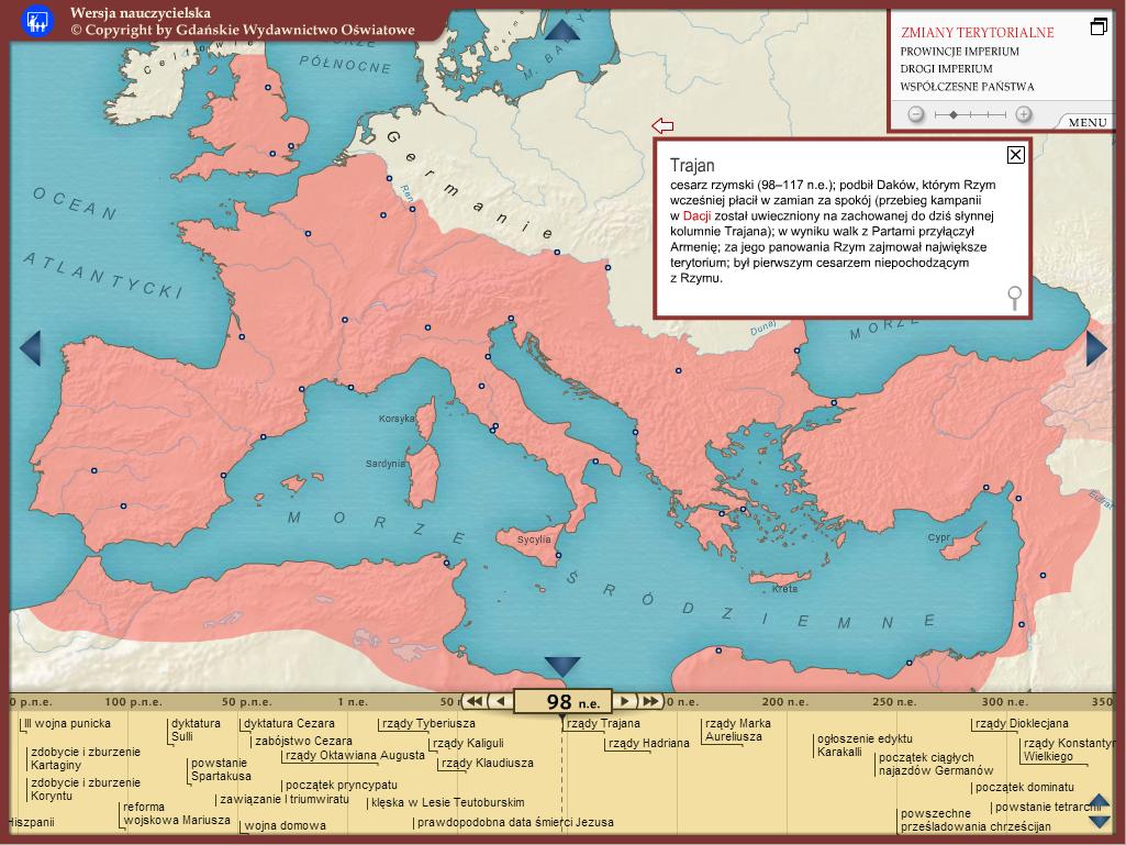 Imperium Rzymskie Mapa Interaktywna Gwo Gdańskie Wydawnictwo Oświatowe